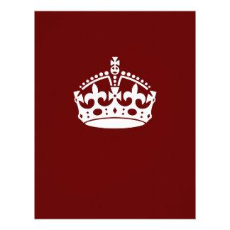 Keep Calm Crown on Burgundy Red Decor 21.5 Cm X 28 Cm Flyer