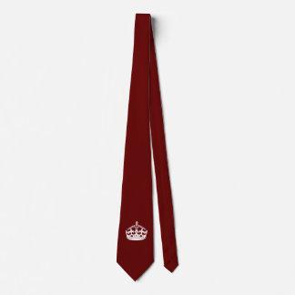 Keep Calm Crown on Burgundy Red Tie