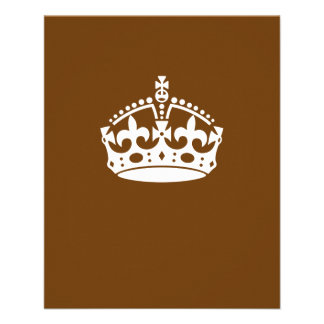 Keep Calm Crown on Chocolate Brown Flyer