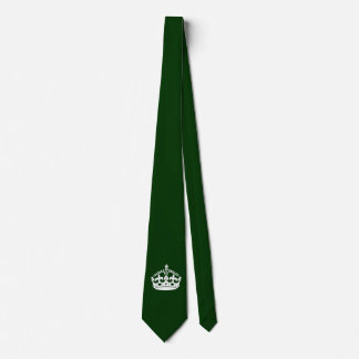 KEEP CALM CROWN on Green Customize This! Tie