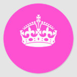 KEEP CALM CROWN on Hot Pink Customise This!