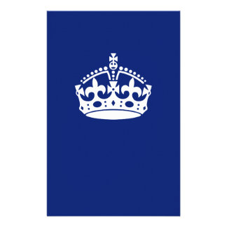 Keep Calm Crown on Navy Blue 14 Cm X 21.5 Cm Flyer