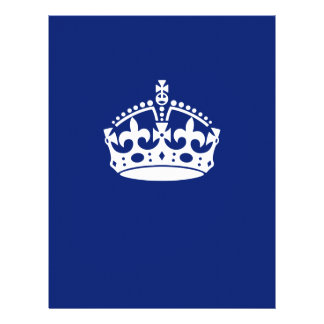 Keep Calm Crown on Navy Blue 21.5 Cm X 28 Cm Flyer