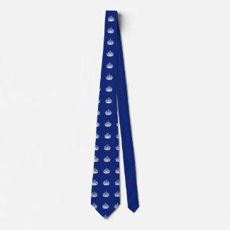 Keep Calm Crown on Navy Blue Tie