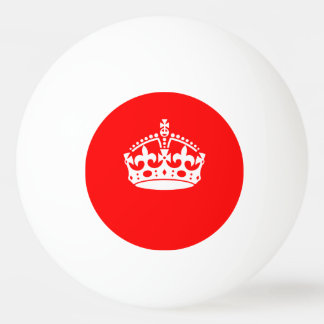 KEEP CALM CROWN on Red Customize This Ping Pong Ball