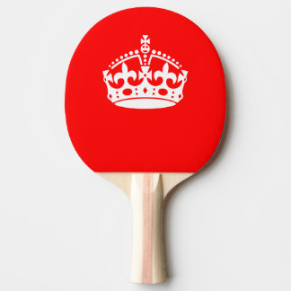 KEEP CALM CROWN on Red Customize This Ping Pong Paddle