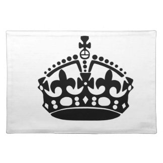 Keep Calm Crown Placemat