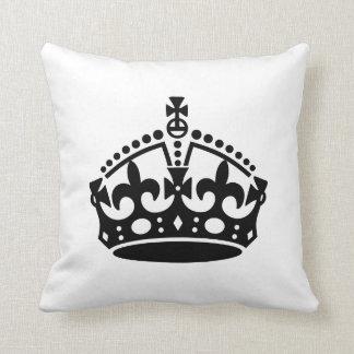 Keep Calm Crown Template Cushion