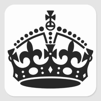 Keep Calm Crown Template Square Sticker