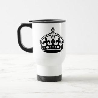 Keep Calm Crown Template Travel Mug