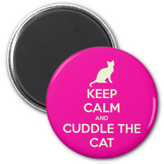 Keep Calm Cuddle The Cat Magnet