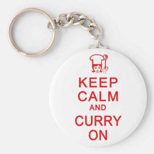 Keep Calm & Curry On key chain