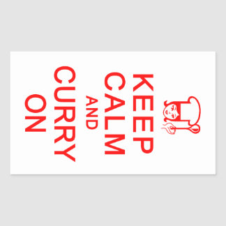 Keep Calm & Curry on stickers