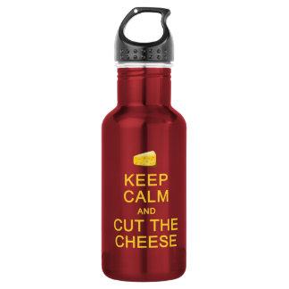 Keep Calm & Cut The Cheese 532 Ml Water Bottle