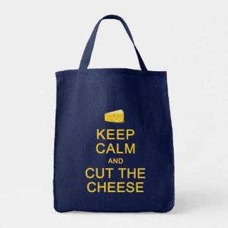 KEEP CALM & CUT THE CHEESE bag - choose style