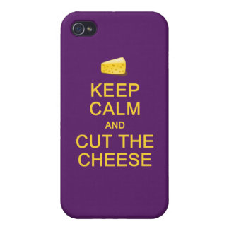 Keep Calm & Cut The Cheese custom cases iPhone 4/4S Cover