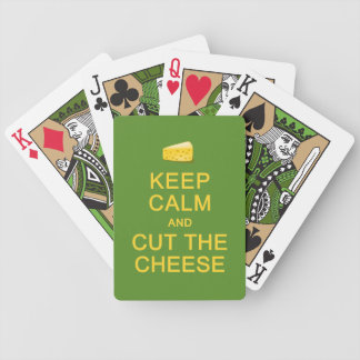 Keep Calm & Cut The Cheese custom playing cards