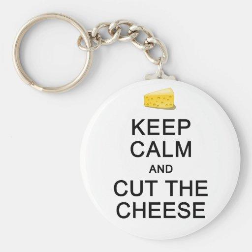 Keep Calm & Cut The Cheese key chain