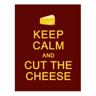 Keep Calm & Cut The Cheese postcard, customize