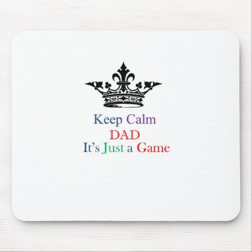 Keep Calm Dad Mouse Pads