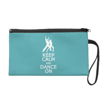 Keep Calm & Dance On custom color accessory bags