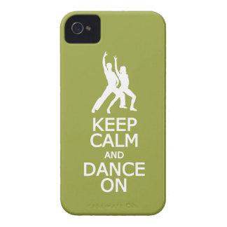 Keep Calm & Dance On custom color Blackberry case