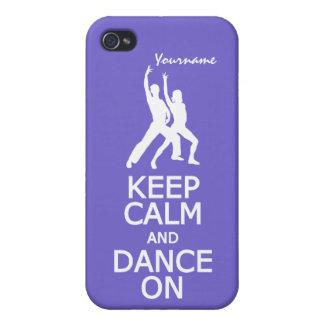 Keep Calm & Dance On custom color iPhone cases