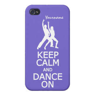 Keep Calm & Dance On custom color iPhone cases Case For iPhone 4