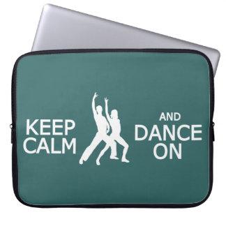 Keep Calm & Dance On custom color laptop sleeve