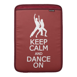 Keep Calm & Dance On custom color MacBook sleeve