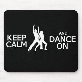 Keep Calm & Dance On custom color mousepad