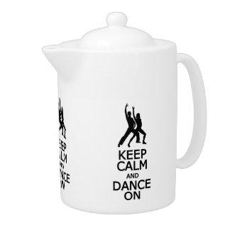 Keep Calm & Dance On teapot