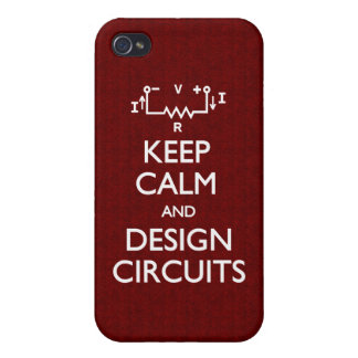 Keep Calm Design Circuits iPhone 4 Cover