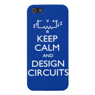 Keep Calm Design Circuits iPhone 5 Cover