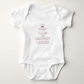 Keep Calm & Destroy Cancer 2 Baby Bodysuit