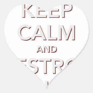 Keep Calm & Destroy Cancer 2 Heart Sticker