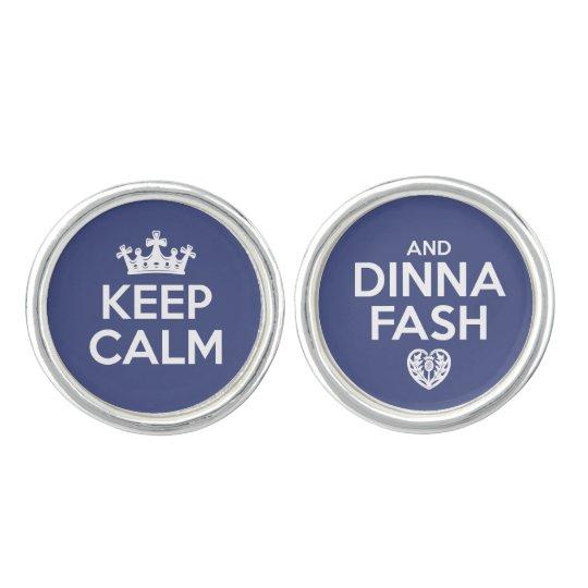 Keep Calm - Dinna Fash Cuff Links