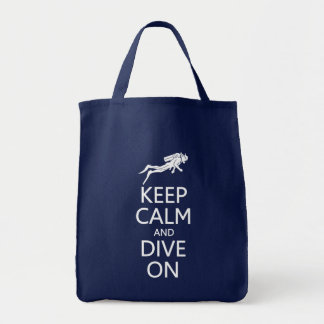Keep Calm & Dive On bag - choose style, color