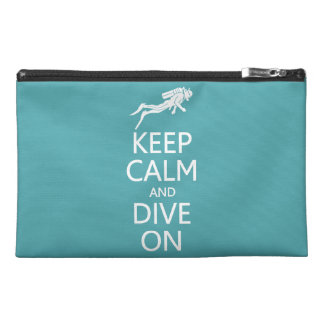 Keep Calm & Dive On custom color accessory bags