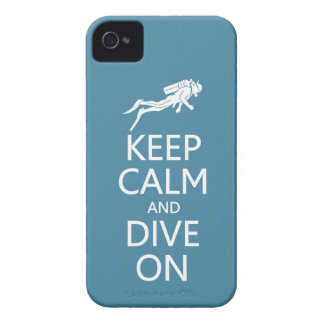 Keep Calm & Dive On custom color Blackberry case