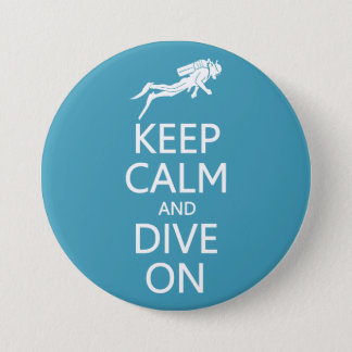 Keep Calm & Dive On custom color button