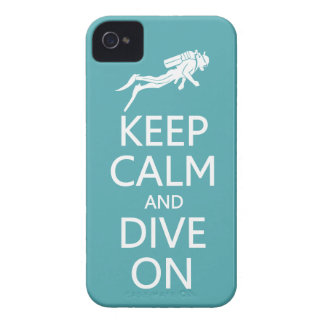 Keep Calm & Dive On custom color iPhone case-mate