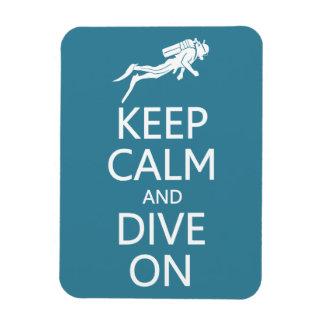 Keep Calm & Dive On custom color magnet