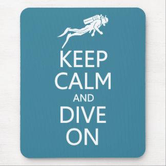 Keep Calm Dive On custom color mousepad