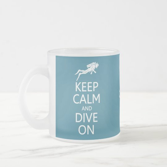 Keep Calm & Dive On custom color mug,
