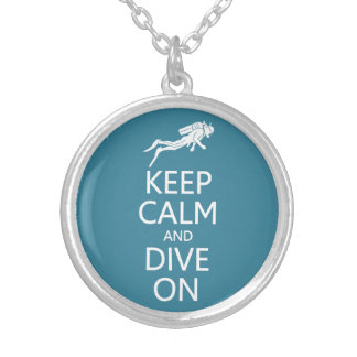 Keep Calm & Dive On custom color necklace