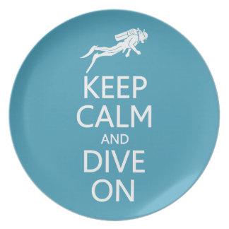 Keep Calm & Dive On custom color plate