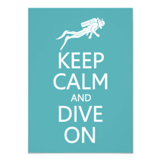 Keep Calm & Dive On custom invitation