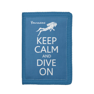 Keep Calm & Dive On custom wallets