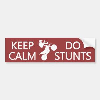 Keep Calm & Do Stunts custom color bumpersticker Bumper Sticker